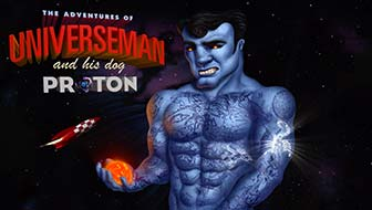 Universeman and his Dog Proton animation