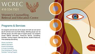 Women's Counselling, Referral and Education Centre Website
