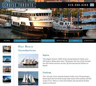 Cruise Toronto Website Our Boats page