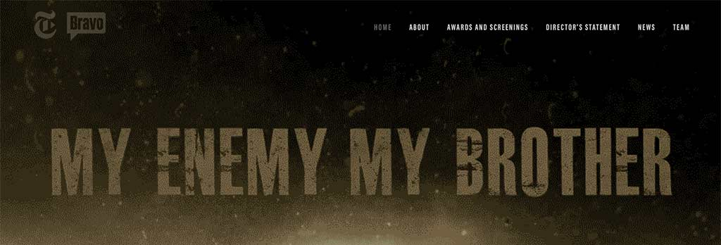My Enemy My Brother website
